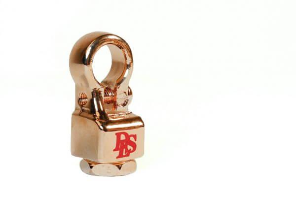 """DLS BT3 akumuliatoriaus jungtis """"Twist-lock"""" tipo, padengta auksu"""