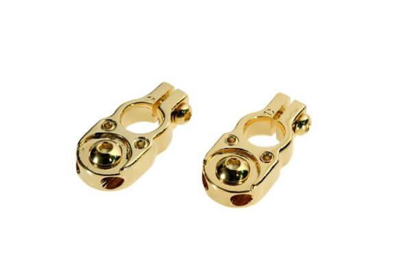 DLS BT1 akumuliatoriaus jungtis, padengta auksu (išėjimai 2x10 mm2)